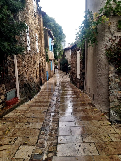 Wet Streets from the rain in Provence