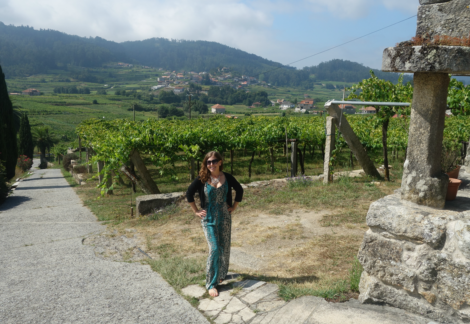 Brooke at DO Ferreiro-Rias-Baixas-albarino-winery