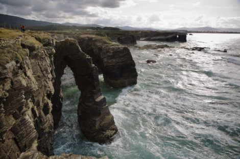 Cathedral Beach at high tide (when you can't walk onto the beach). Photo courtesy of Turismo Galicia