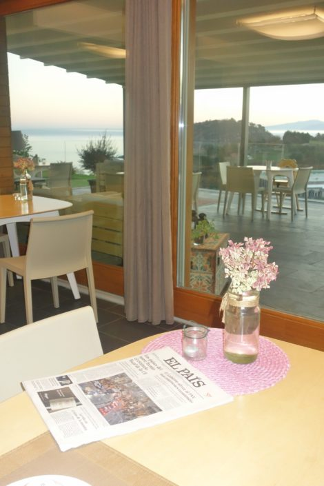 Breakfast at the Basque country hotel